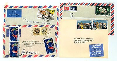 Kenya A58 4 Covers 1978 used Air Mail