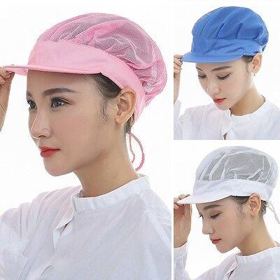 Chix Catering Cap Single Color Working Mesh Hat Chef Bakery Kitchen Factory Cap