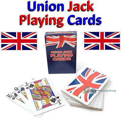 Pack Of Playing Cards - Union Jack Design - Full Size Card Deck