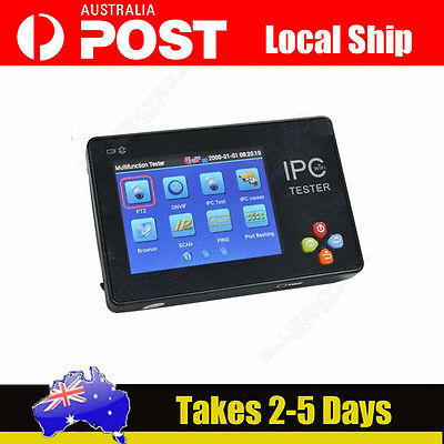 "LOCAL! 3.5"" IPC-1600 LCD IP Analog CCTV Wrist Camera IPC WIFI Tester PTZ Control"