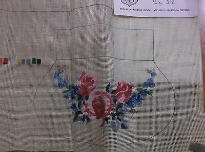 Rare Unworked Vervaco Brand Tapestry Purse Canvas