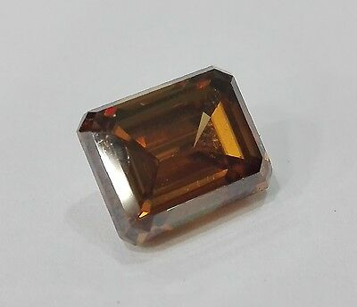 6,62CT - Moissanite brown emerald cut - VVS - TOP QUALITY