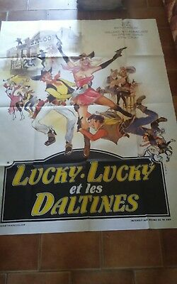Affiche Cinema 120X160 Lucky Lucky Et Les Daltines Erotic