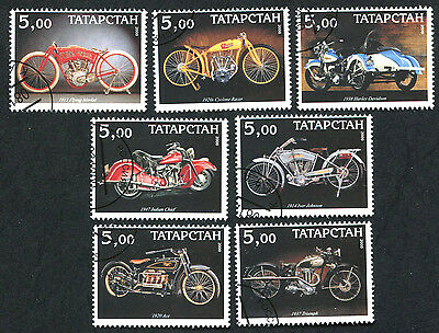 TATARSTAN REPUBLIC 2000 Early Motorcycles, SET OF 7, USED Never Hinged