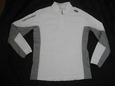 Catmandoo White Thermal Long Sleeve Golf Top Sweater Jumper - Size 42 / 12 UK