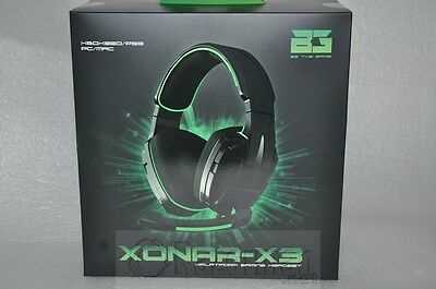 Auriculares Gaming Bg-Xonar X-3 Para Pc, Xbox360, Ps3