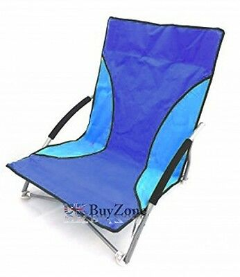 Folding Beach Camping Fishing Chair Foldable Garden Outdoor Sun Lounger Low Seat