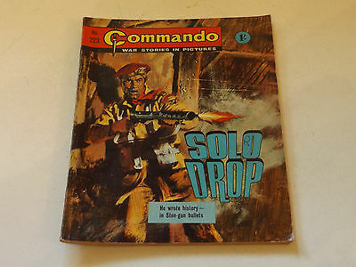 Commando War Comic Number 223!!,1966,good For Age,51 Years Old Issue,v Rare.