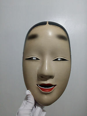 Handcraft Japanese Genuine Theater Noh Mask wood