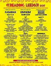 Reading Festival 2017 - Two weekend camping tickets
