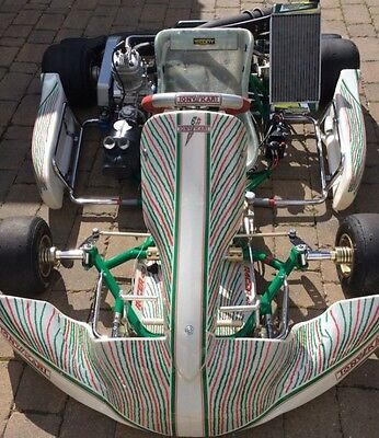 Go Kart 2017 OTK Tonykart 401s Rolling Chassis Fitted With Cream Iame X30 Engine