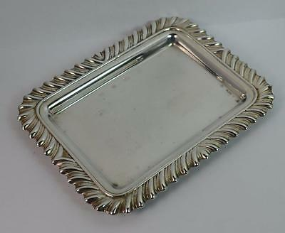 Sterling Silver Pin Tray or Dish with Gadrooned Edge