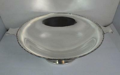 1933 Art Deco Heavy Sterling Silver Two Handled Fruit Bowl 508G 17Oz