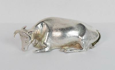 Rare William IV Sterling Silver Miniature Cow / Bull Figure