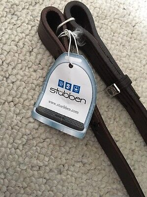 Brand New With Tags Brown Stubben Stirrup Webbers - Medium