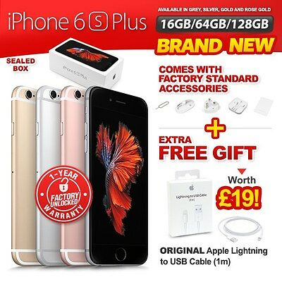 New&Sealed Factory Unlocked APPLE iPhone 6S Plus + 16 64 128GB Gold Grey Silver