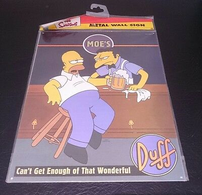 The Simpsons metal wall sign Can't get enough of that Duff - Original packaging