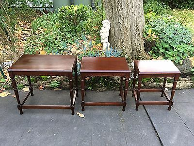 Lovely Vintage Nest of 3 Side / Lamp / Occasional Tables!