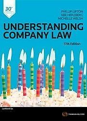 Understanding Company Law 17th edition by Phillip Lipton, Abe etal Herzberg (Pa…