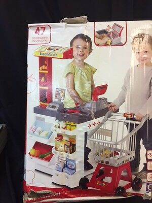 Smoby Super Market  with Till and Trolley DAMAGED BOX