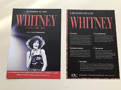 WHITNEY HOUSTON WHITNEY CAN I BE ME FILM MOVIE POSTCARDS / FLYER x 2