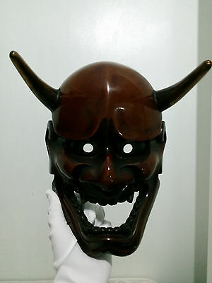 High quality Japanese demon mask noh mask of HANNYA signed