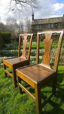 A Pair of 18th Century Oak Side Chairs
