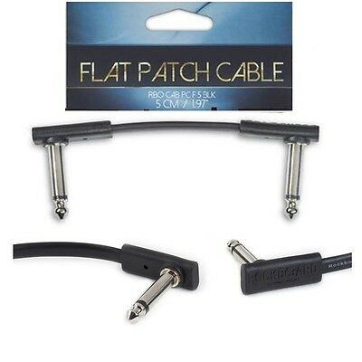 Warwick RockBoard Flat Patch Cable, Black, 5 cm compact, super flat angled plugs