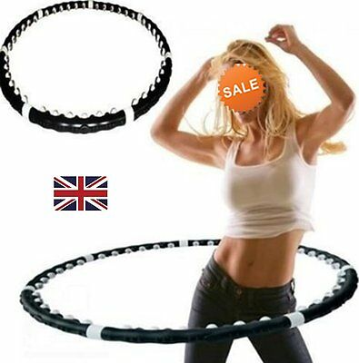 Fitness Magentic Hula Hoop Weighted Massage Exercise Abs Workout Hoola Dance Fit
