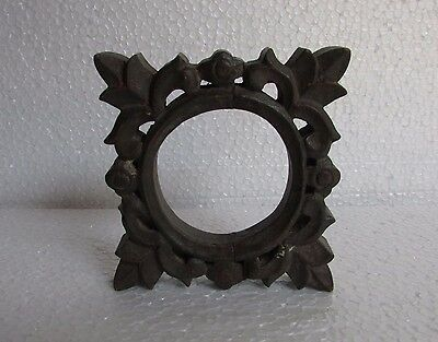 Vintage Old Hand Carved Unique Shape Wooden Picture Photo Frame, Collectible