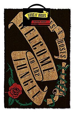 Guns N' Roses Official Black Welcome to the Jungle Durable Door Mat