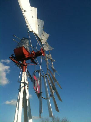 8ft Aermotor A-702 rebuilt Windmill with New 33ft Tower