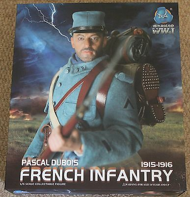 did action figure ww1 french pascal dubois 1/6 12'' boxed dragon cyber hot toy