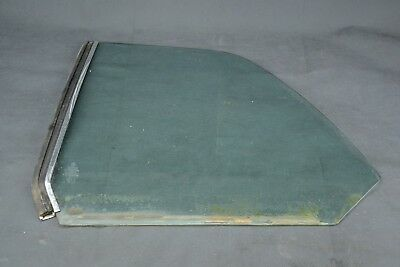 Rear  Driver  Side Window Glass With Chrome W123  Mercedes Coupe