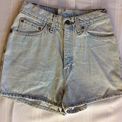 VTG 80s 90s Blue HIGH WAIST Levis 512 DENIM MOM JEAN Shorts Slim Fit Size 7 - FF