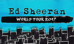 ED SHEERAN | SYDNEY | 15th MARCH | 2 x GA FRONT STANDING  - HARD COPY TICKETS