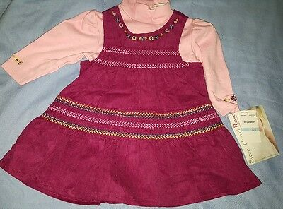 ** SWEETHEART ROSE 2 Piece Baby Girl Dress set Size 6/9 months - new **