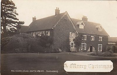 The Manor House, Country House, South Creake, Norfolk. Rp, C1920.