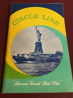 Vintage 1970's And 80's Circle Line Cruise Guides