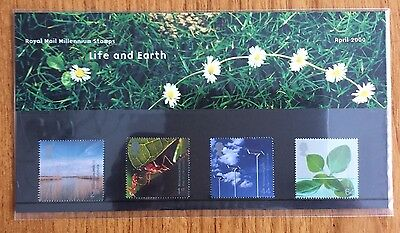 Royal Mail Presentation Pack : Millennium Stamps : Life and Earth