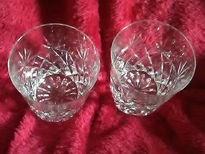 Beautiful Design Crystal Cut Glass Whiskey Tumblers whisky glasses set of 2