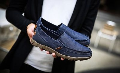 Fashion Casual Men 's Canvas Shoe Sleeves shoes Moccasin Slip On Loafers 11