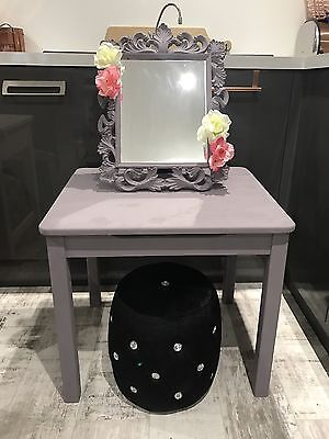Small Child's Dressing Table, Mirror & Stool