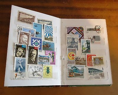 Vintage STAMP ALBUM Worldwide POSTALLY USED Assorted Lot GOOD CONDITION