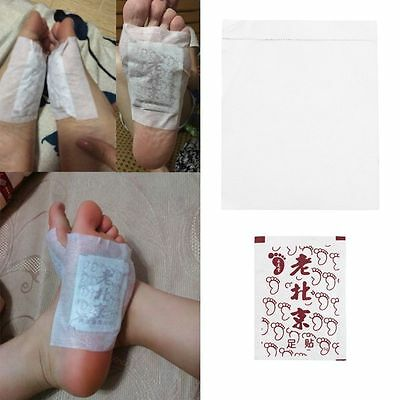 Old Bejing Natural Plant Foot Patch Remove Toxin Detox Cleansing Sheets All Age