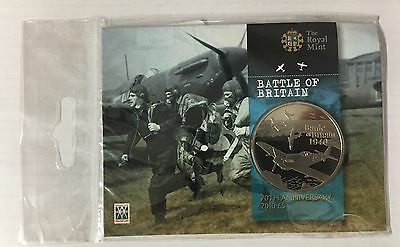 2010 Alderney 70th Anniversary of the Battle of Britain £5 Coin - Unopened