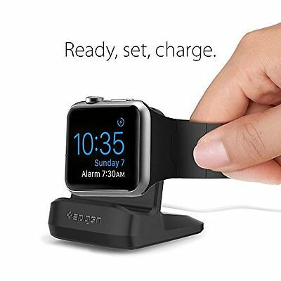 Apple Watch Dock Night Stand Mode iWatch Series 1 2 Charging Station Black New