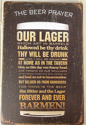 BEER Tin Metal Sign Rustic Look .. MAN CAVE . brand new. AU SELLER