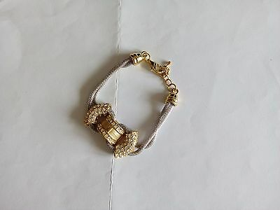 Silver & Gold Tone with crystals Bracelet