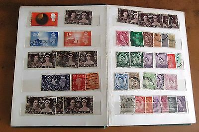 Vintage STAMP ALBUM Worldwide POSTALLY USED Assorted Lot MAINLY GREAT BRITAIN